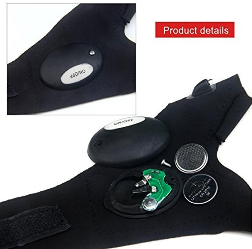 2 LED Taschenlampen Handschuhe